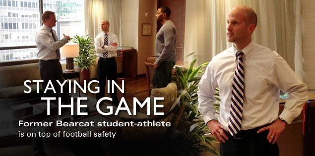 Staying in the Game: Former Bearcat student-athlete is on top of football safety